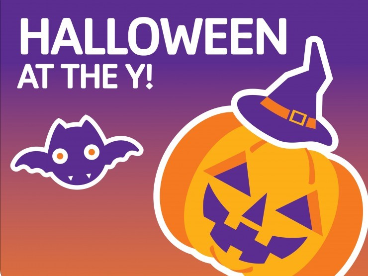 save the date for halloween at the booouehler ymca