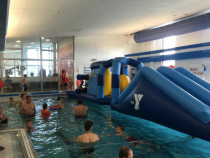 Family Swim with the Inflatable