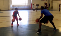Dareon Spencer and Samuel Franklin, the resident basketball coaches at Y Sports Complex