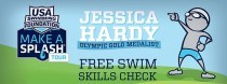 Bring your child to the Y for a free swim skills check and meet Olympian Jessica Hardy on June 13
