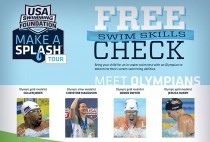 Bring your child to the Y for a free swim skills check and meet U.S. Olympic Swimmers on June 13