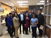 Cook County Sheriff Tom Dart Visits Kelly Hall YMCA
