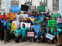 YMCA youth and staff rally to urge Governor Rauner to restore Teen REACH funding