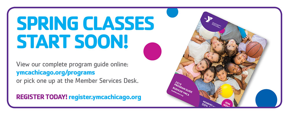 YMCA Programs are now online. Register today!