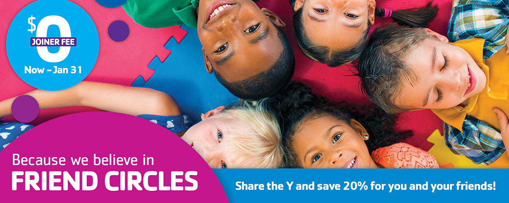 Join YMCA with no joiner fee until January 31