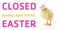 The IBY will be closed Easter Sunday!