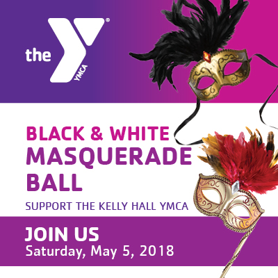 Save the Date fkyer for Kelly Hall YMCA Annual Silent Auction Dinner and Fundraiser