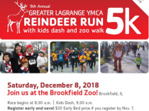 Join Team McCormick YMCA Mistle Toes at the Reindeer Run on December 8