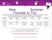 New Summer Trial Classes!