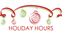 Holiday Hours for 2018