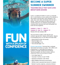 Summer swim lessons are underway, choose your class today!
