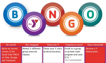 "Get in the game! Play ""BYNGO"" at the Y"