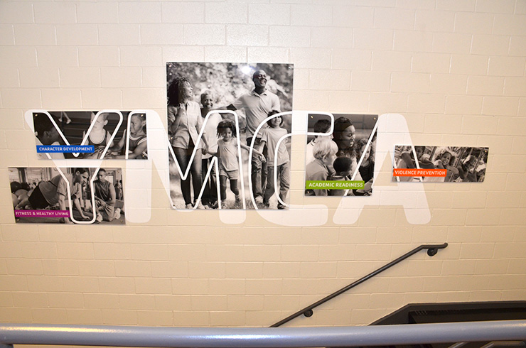YMCA Feature Wall
