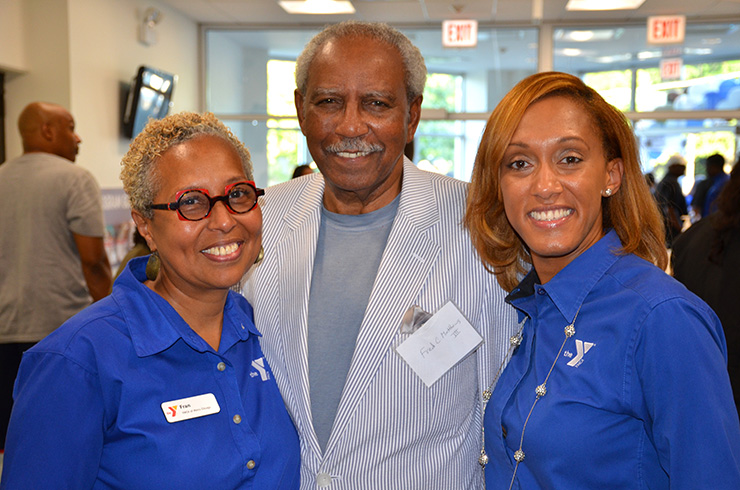 Fran Bell, group vice president, Fred C. Matthews III and Wendy Ellis, South Side YMCA executive director